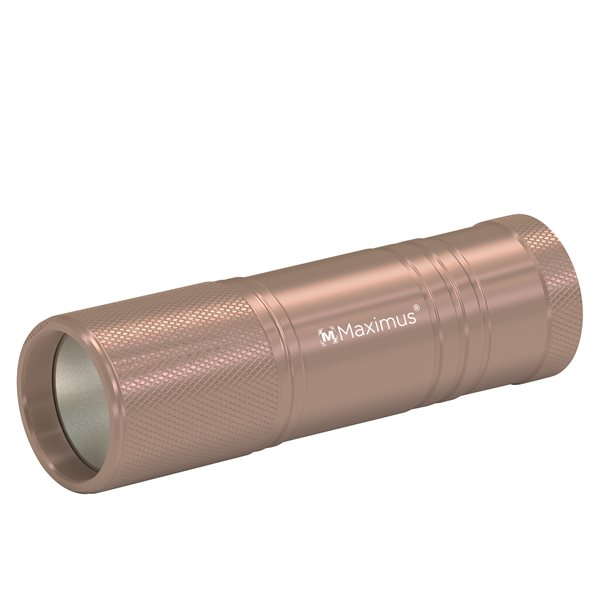 Compact 10 - Aluminiums lygte på 120 lumen i farven brun