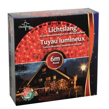 Udendørs Xmas ropelight 6m red LED SLANGE