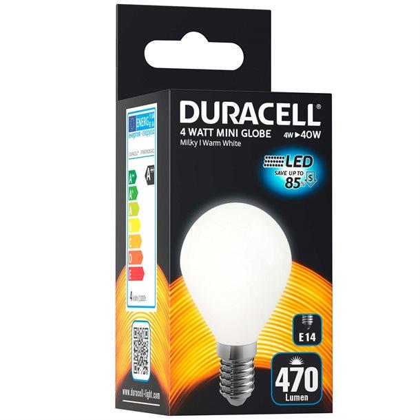 Duracell® - Milky LED krone pære med E14 fatning på 470 lumen - (svarer til 40W)