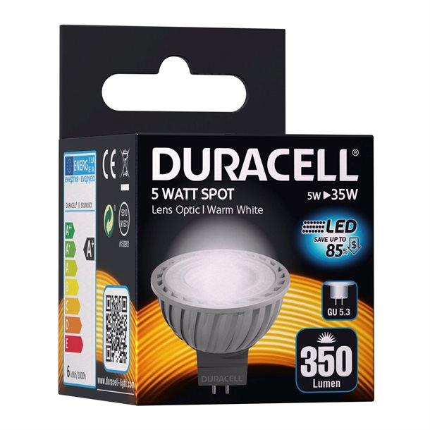 Duracell® LED GU5.3 spot med 350 lumen - (svarer til 35W)
